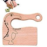 Cuchillo de madera para niños para cocinar, cuchillos seguros para niños, juguete de cocina, cortador de verduras y frutas (para 2 a 8 años)