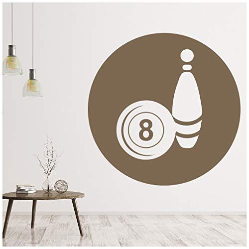 azutura Bowlingkugel Wandtattoo 8 Ball Wand Sticker Sport Wohnkultur verfügbar in 5 Größen und 25 Farben Groß Schwarz
