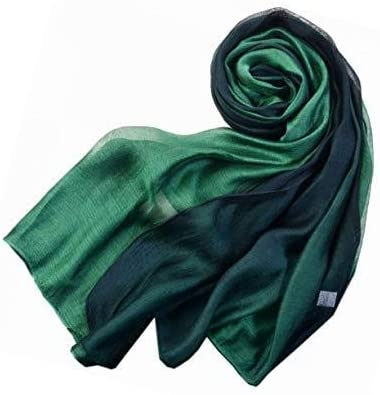 World of Shawls Evening Wrap Stole Shawl For Wedding, Bridesmaid, Parties, Prom Scarf (Silk Two Shade Green)
