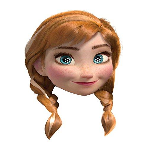Disney Frozen Neuf Carte Visage Masque - Anna Elsa Olaf Kristoff - Blanc, Masque pour Visage - Anna