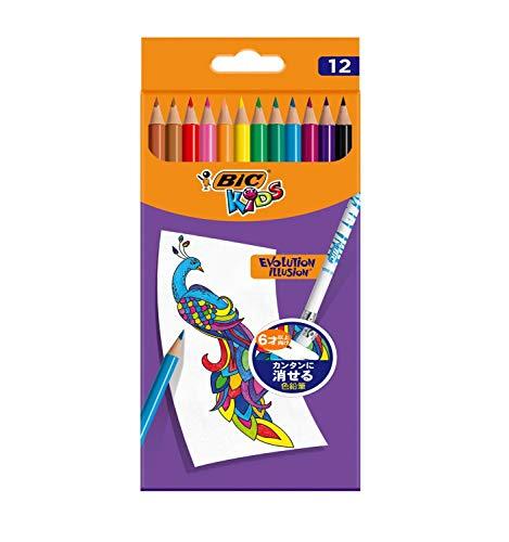 BIC 色鉛筆 BICKIDS 消せる色鉛筆12色 BKEVOILLPK12