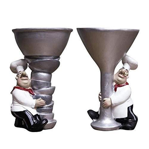 DWLXSH Kreative Weinglas Dekorative Kerzenständer Schöne Cartoon-Charakter Resin Crafts 2ST for Weihnachten