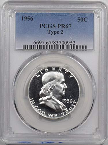 1956 P Franklin Half Dollar-Type 2 Half Dollar PR67 PCGS