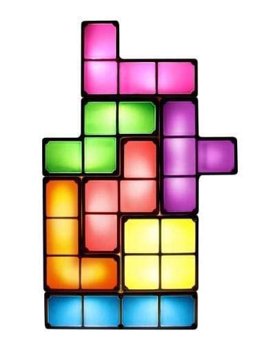 LONGJUAN-C Las Luces de los niños Tetris Urbanizable de luz por LED