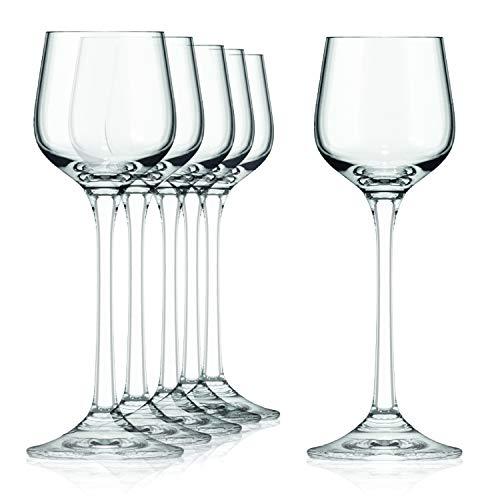 SAHM Vasos Licor | 6 unidades de 60ml | Ideal como Copa Brandy y Vasos de Chupito | Juego de Vasos Cristal | Apto para...