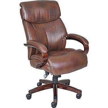 La-Z-Boy Executive Chair, Leather Mahogany