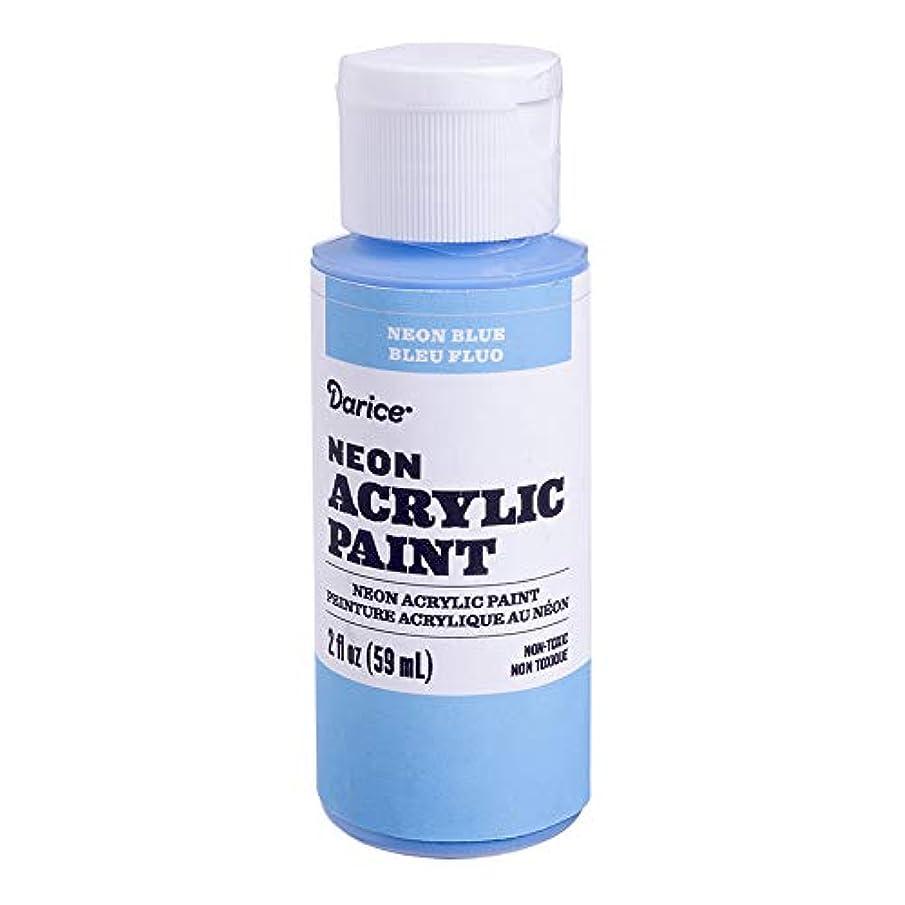 Darice 30062636 Neon Blue, 2 Ounces Acrylic Paint,