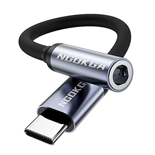 Adaptador USB-C a Jack de 3,5 mm AUX, Cable Adaptador de Audio para...