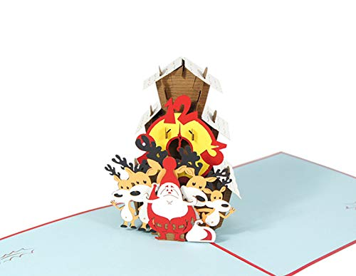 Besondere Weihnachtskarte Kuckucksuhr ausgefallene Karte zu Weihnachten Weihnachtsgutschein Weihnachtsuhr - Weihnacht Kuckuck Uhr