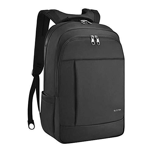 """SLOTRA Laptop-Rucksack für 15.6-17\"""" Business Tasche Wasserdichter Diebstahlsicherer Rucksack Schwarz (Schwarz-2)"""