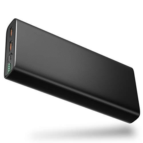 BANNIO 20000mAh Powerbank,USB C Externer Akku mit 18W Power Delivery, Hohe Kapazität Type C PD Power Bank Tragbares Ladegerät mit 2 Eingängen 3 Ausgängen für iPhone,Samsung,Huawei,Tablet und usw.