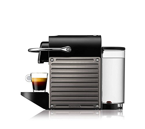 Nespresso XN300540 Pixie Coffee Machine, Titanium by Krups