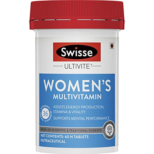 Swisse Ultivite Women's Multivitamin (36 Herbs, Vitamins & Minerals) for Energy, Stamina, Vitality and Mental Performance - 60 Tablets