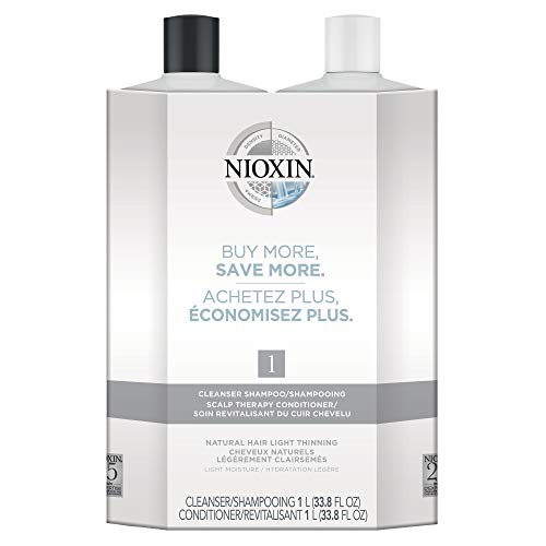 System 1 Cleanser Shampoo and Scalp Therapy Conditioner, Liter Duo 33.8 oz Each