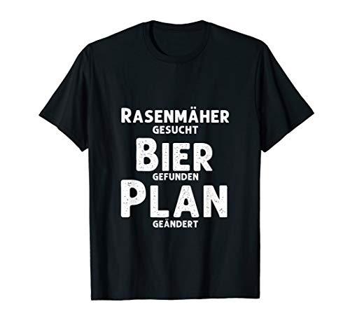 Gärtner Garten Rasenmäher Bier Biertrinker T-Shirt