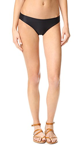 Tori Praver Women's Crete Color Block Cristina Classic Fit Bikini Bottom, Latte/Storm, S