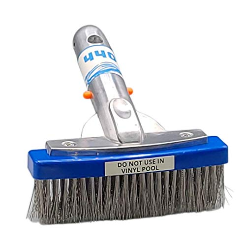 440 Heavy Duty 5 Inches Wide Pool Brush, Stainless Steel Bristles, Professional-Brush Cleaner, Works for General Cleaning of Concrete Walls and Floors. NOT for USE in Vinyl Pool