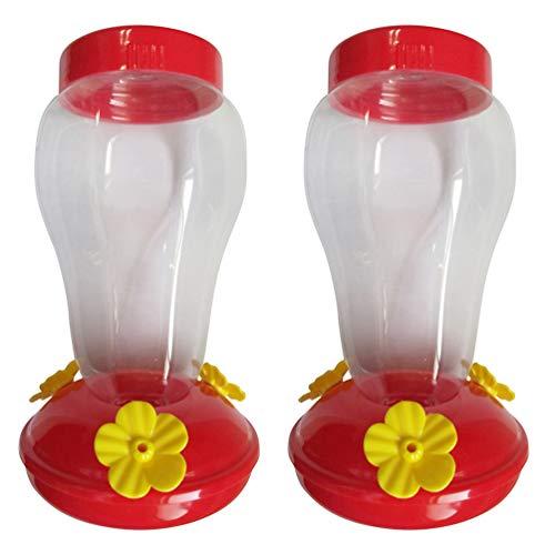 Hemoton 2 Stücke Vogel Wasserspender Kolibri Vogeltränke Geflügeltränke Blumen Form Wellensittich Futterspender Käfig Wassertränke für Papagei Sittich Vogelkäfig Zubehör