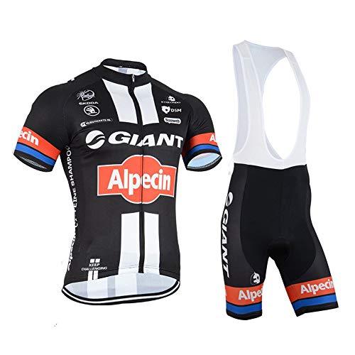 Logas Herren Radsport-Trikot, Sportbekleidung Jersey + Radhose mit 3D Gel gepolstert XL 6