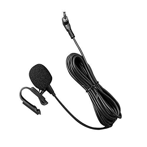 1neiSmartech Microfono Esterno Con Jack Da 3,5mm Cavo Da 3 Metri Montaggio Per Auto Guida Hand Free Tecnologia Plug And Play, Unità Di Assemblaggio Abilitati Bluetooth Stereo Radio Gps Dvd