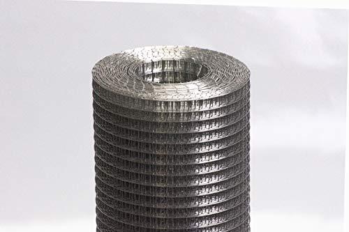 Zaun-Nagel 5 m Volierendraht Maschendrahtzaun punktgeschweißt Wühlmausschutz Hasendraht Zaun 6,4 x 1000mm, feuerverzinkt oder Edelstahl wählbar (Edelstahl)