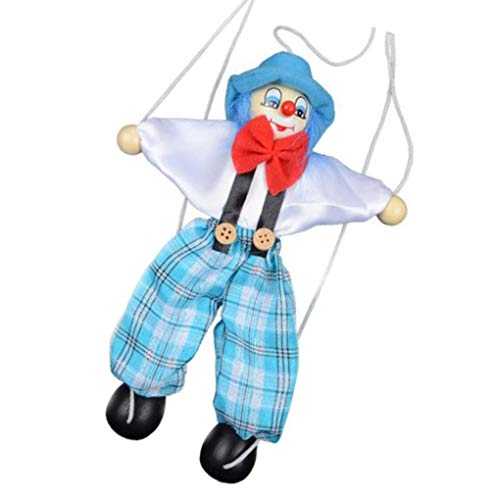 heacker Tire Colorido Cuerdas de Marionetas Payaso de marioneta de Madera de Manualidades Juguetes Regalos Conjunto Actividad muñeca Niños Niños Color al Azar