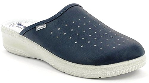 inblu Pantofole Ciabatte SANITARIE da Donna MOD. 50-33 Blu (40)