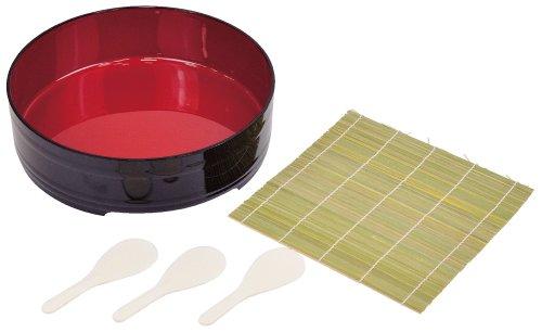 Lot de 5 pièces D-483 Pearl Sushi Party Lacquerware, roulées à la Main Sushi (Japon Import/Le Paquet et Le Manuel sont Écrites en Japonais)
