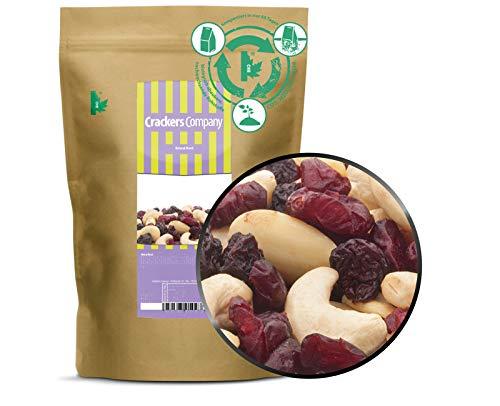 1 x 550g Studentenfutter Nussmischung mit Cashew Mandel Blaubeere Cranberry leckere Vitaminquelle für Zwischendurch fettarm salzfrei vegetarisch vegan glutenfrei laktosefrei