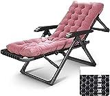 D + Sillón reclinable al aire libre, silla de gravedad cero, silla de patio, silla de salón, reclinable de chaise, plegable al aire libre ajustable, silla de playa, tumbona acolchada de gran tamaño,