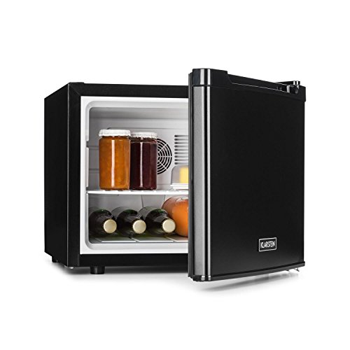 Klarstein Manhattan - minibar, minikoelkast, drankkoelkast, 35 liter, 3-traps temperatuurregelaar, verwisselbaar deurscharnier, zwart