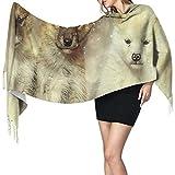 Cani Slitte trainate da cani Groenlandia Costosi cuccioli naturali Donna Scialle avvolgent...