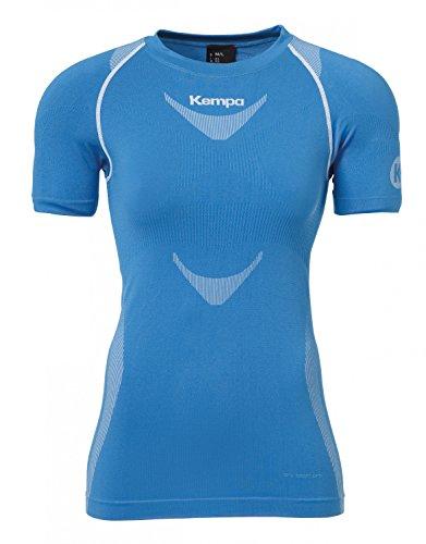 Kempa Attitude Pro Shortsleeve Women Femme, Kemp Bleu/Blanc, FR : XL (Taille Fabricant : XL/2XL)