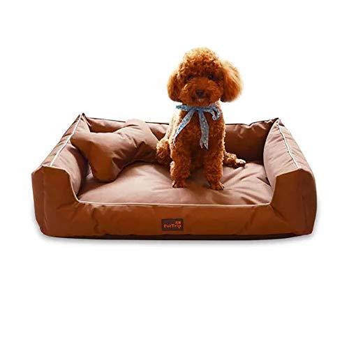 thematys Hunde-Bett I Hundekorb Kratzfest und Reißfest I Haustier-Korb Abziehbar und Waschbar mit Reißverschluss I Katzenbett mit extra Kissen I Haustierbett Weich (L (85 x 60 x 20 cm), Style 5)