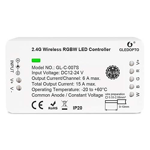 [Plus Edition] RGBW ZigBee LED Streifen Controller ZigBee kompatibel Plus Mi-Light Mi-Boxer Wandschalter oder Fernbedienung kombiniert mit ZigBee Steuerung, Amazon Echo Plus
