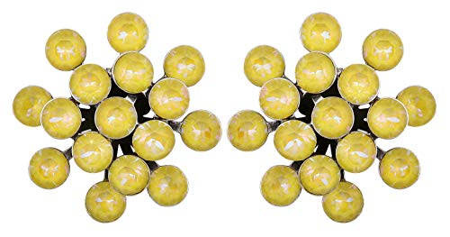Konplott Ohrstecker Magic Fireball lemon jelly crystal sunshine de lite Classic antique silver