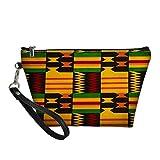 HUGS IDEA portátil de viaje de maquillaje bolsas de cosméticos mujeres africanas tribal graffiti viaje lavado organizador pequeño
