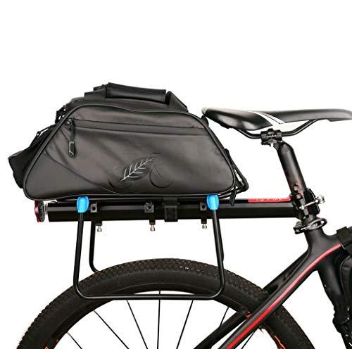 H Tomorrow - Bolsa reflectante para bicicleta, asiento trasero de bicicleta, bolsa impermeable para portaequipajes de gran capacidad, material al aire libre, correa para el hombro, bolso de mano y equipaje trasero