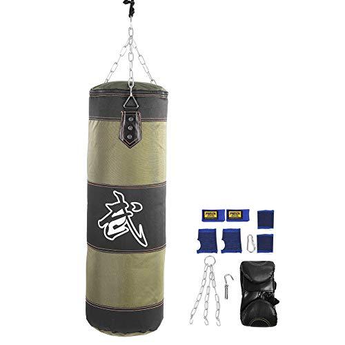 Alomejor Schwere Boxsack Thai Home Gym Training Anfänger gefüllt Set leerer Sandsack Punching Bag Kick Boxing(0.8m-Grün)