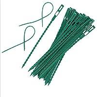 LUXWELL 50PCS 調節可能 植物のネクタイ 多機能 頑丈 物ツイストネクタイ 結束バンド ケーブル 植物ツイストタイ