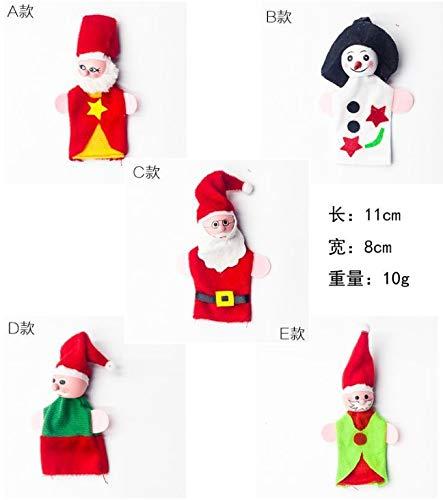 DishyKooker Hölzerne Santa Claus Fingerpuppen Set Stoff Plüsch Puppe Baby pädagogische Hand Cartoon Spielzeug E articulos de producto