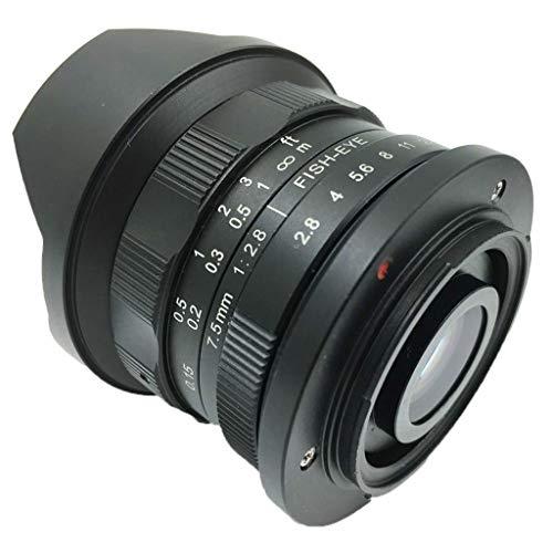 D DOLITY 7.5mm Distancia Focal F2.8 APS-C Lente Ojo de Pez Manual para Canon M2 M3 M5 M6 M10 (E-M)