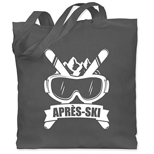 Après Ski - Après-Ski Skibrille - Unisize - Dunkelgrau - XT600_Jutebeutel_lang - WM101 - Stoffbeutel aus Baumwolle Jutebeutel lange Henkel