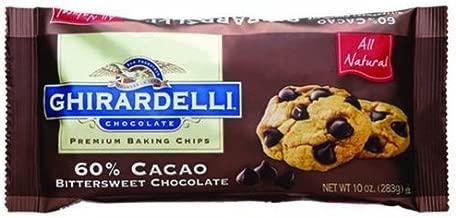 Ghirardelli Chocolate Premium Baking Chips 60% Cacao Bittersweet Chocolate, 10 oz (Pack of 12)