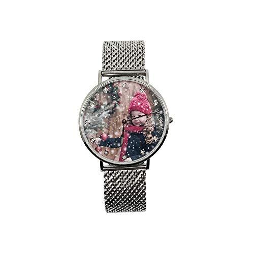 Souljewelry Reloj de Pulsera Personalizado con Foto y Grabado Mensaje
