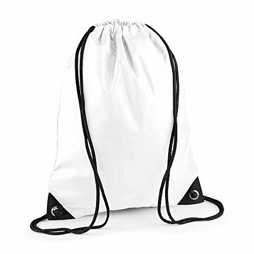 Bag Base - sac à dos à bretelles - gym - linge sale - chaussures - BG10 - blanc