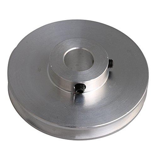 Yibuy Silber Aluminium Groove Riemenscheibe 58x 12mm für Motor Shalf 3–5mm Rund Gürtel