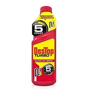 Destop Turbo – Desatascador Tuberías Potente Formato Gel, 2 usos