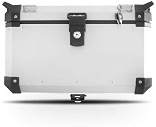 Baú Alumínio Traseiro Top Case 48 Litros Super Adventure Modelo Universal Alumínio Escovado