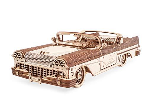 UGEARS 70073 Traum Cabriolet Auto Modellbausatz aus Holz, beige